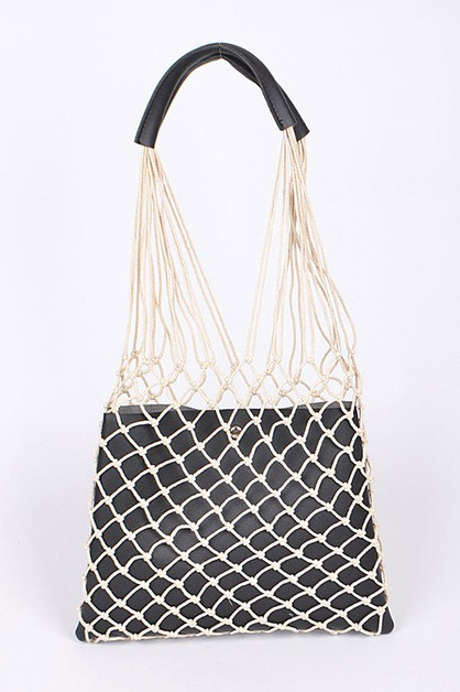 Net Shoulder Iconic Tote - orangeshine.com