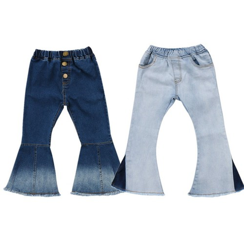 Girls Bell Bottom Jeans - orangeshine.com