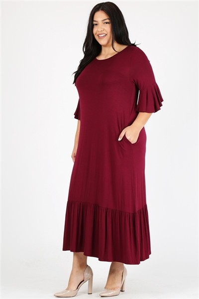 Plus size Loose Fit Maxi Dresses - orangeshine.com