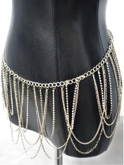 Metal Chain Belt - orangeshine.com