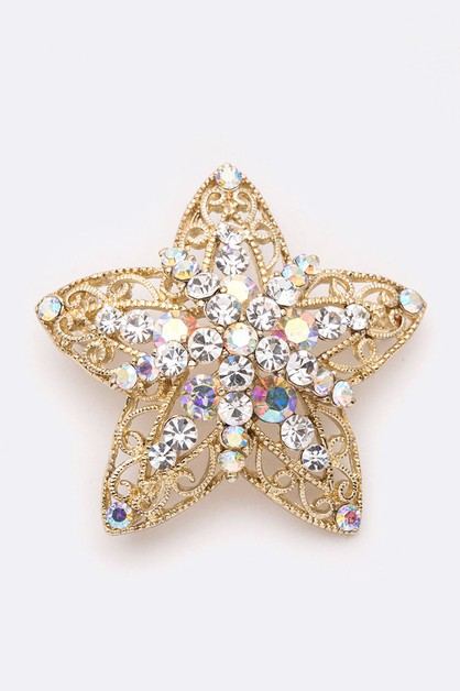 Crystal Star Iconic Brooch - orangeshine.com
