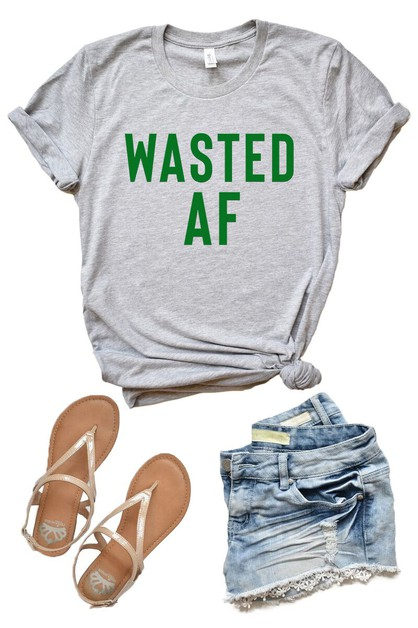 Wasted AF - St Patricks Day Tee - orangeshine.com