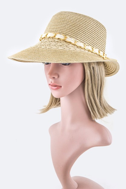 Laced Chain Bow Summer Hat - orangeshine.com