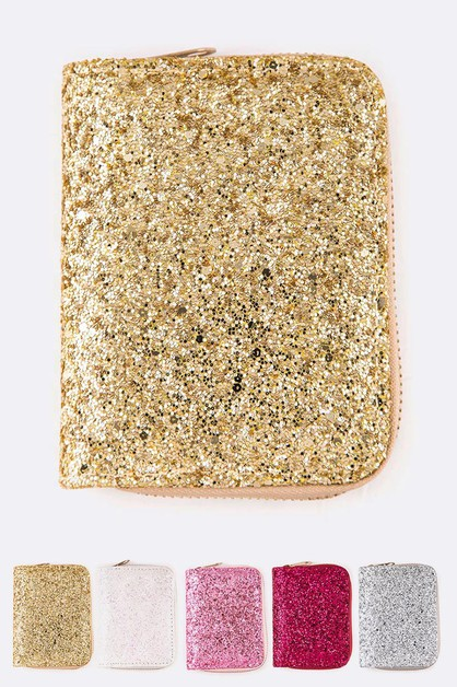 Glitter Small Zip Wallet Set - orangeshine.com