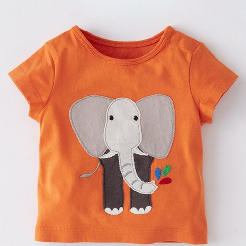 Boys  Elephant AppliqueT shirt - orangeshine.com