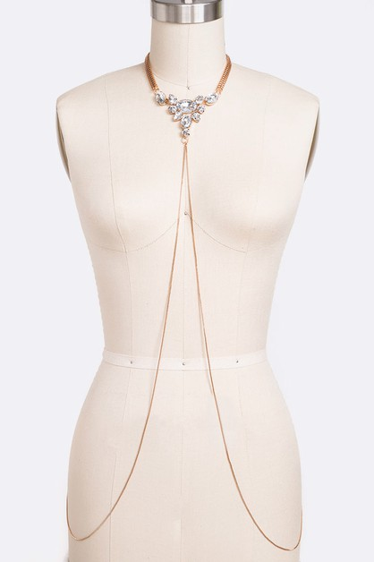 Crystal Collar Iconic Body Chain - orangeshine.com
