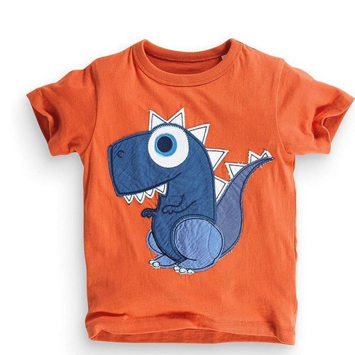 Boys Dinosaur Applique T shirt - orangeshine.com