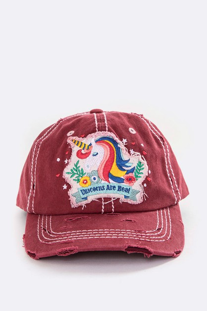 Unicorn Vintage Washed Cap - orangeshine.com
