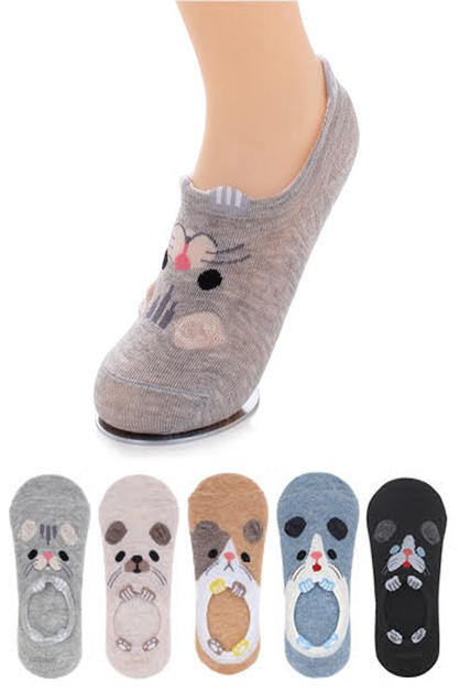 Comic Pets No Show Socks Set - orangeshine.com