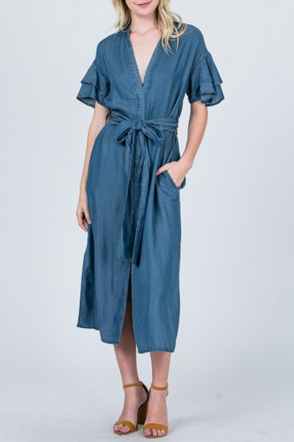 sheath cool denim dress - orangeshine.com