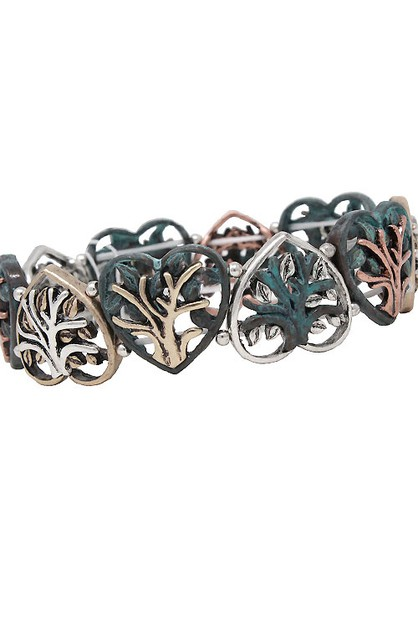 Heart Mix Metal Stretchable Bracelet - orangeshine.com