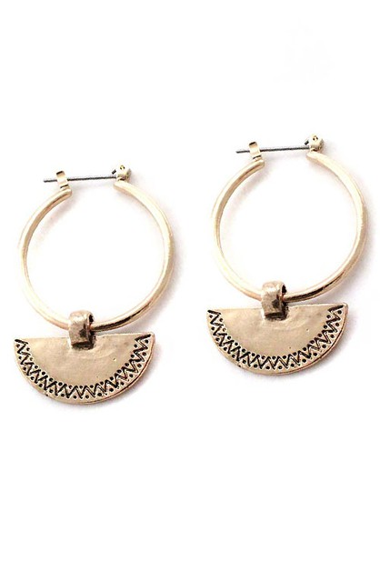 TRIBAL HOOP EARRINGS - orangeshine.com