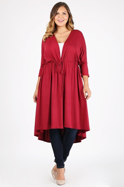 Plus size Cardigan Robe  - orangeshine.com