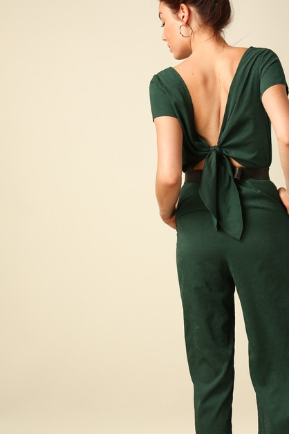 Hart Back Tied Jumpsuit - orangeshine.com
