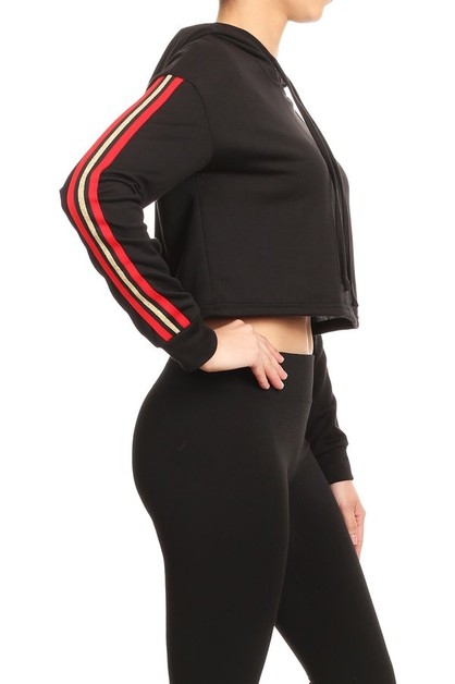 Cropped Sweaters Hoodie Sports Tops - orangeshine.com