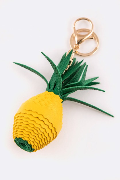 Pineapple 3 Dimensional Key Chain - orangeshine.com
