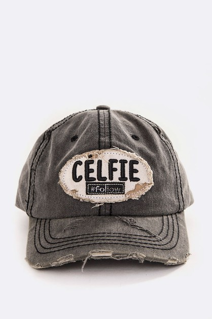 CELFIE Embroidery Cotton Cap - orangeshine.com