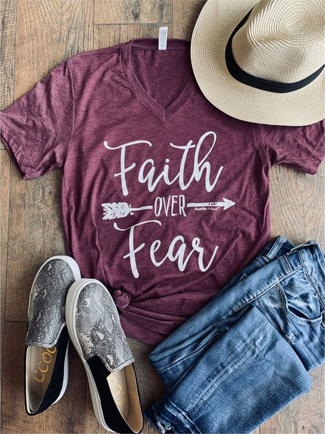 Faith over Fear Graphic Tee - orangeshine.com