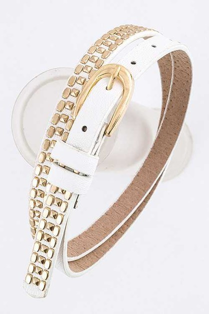 Pyramid Studs Fashion Belt - orangeshine.com