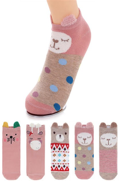 Little Ears Iconic Cartoon Socks Set - orangeshine.com