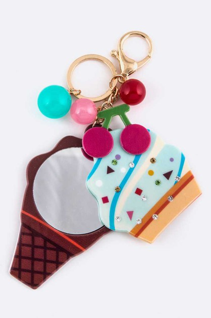 Soft Serve Mirror Key Charm - orangeshine.com