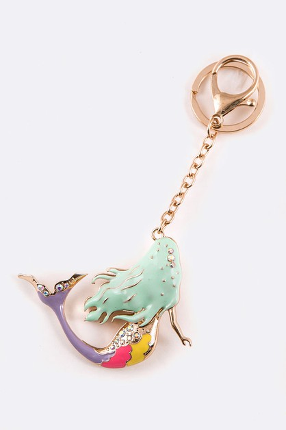 Enamel Mermaid Iconic Key Chain - orangeshine.com