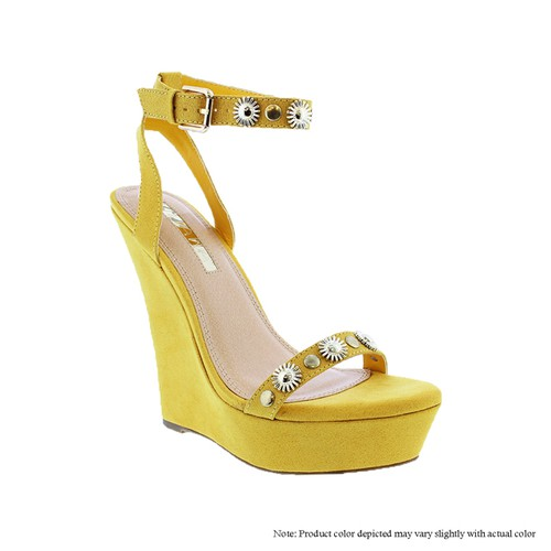 Rhinestone Wedge Platform Sandals - orangeshine.com