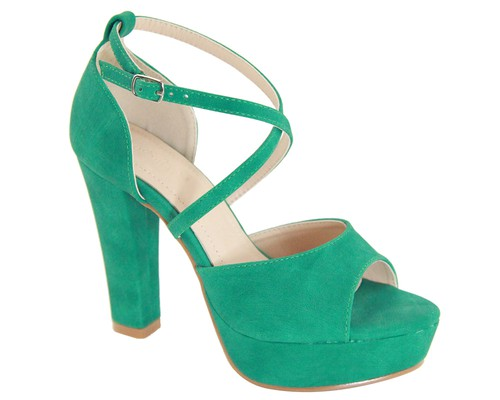 PEEP TOE SUEDE CRESS CROSS HIGH HEEL - orangeshine.com