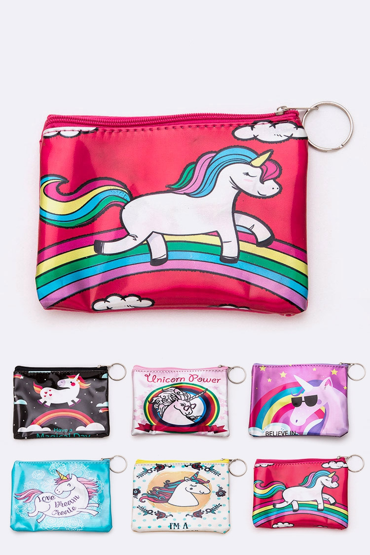 Mix Unicorn Printed Coin Wallet  - orangeshine.com