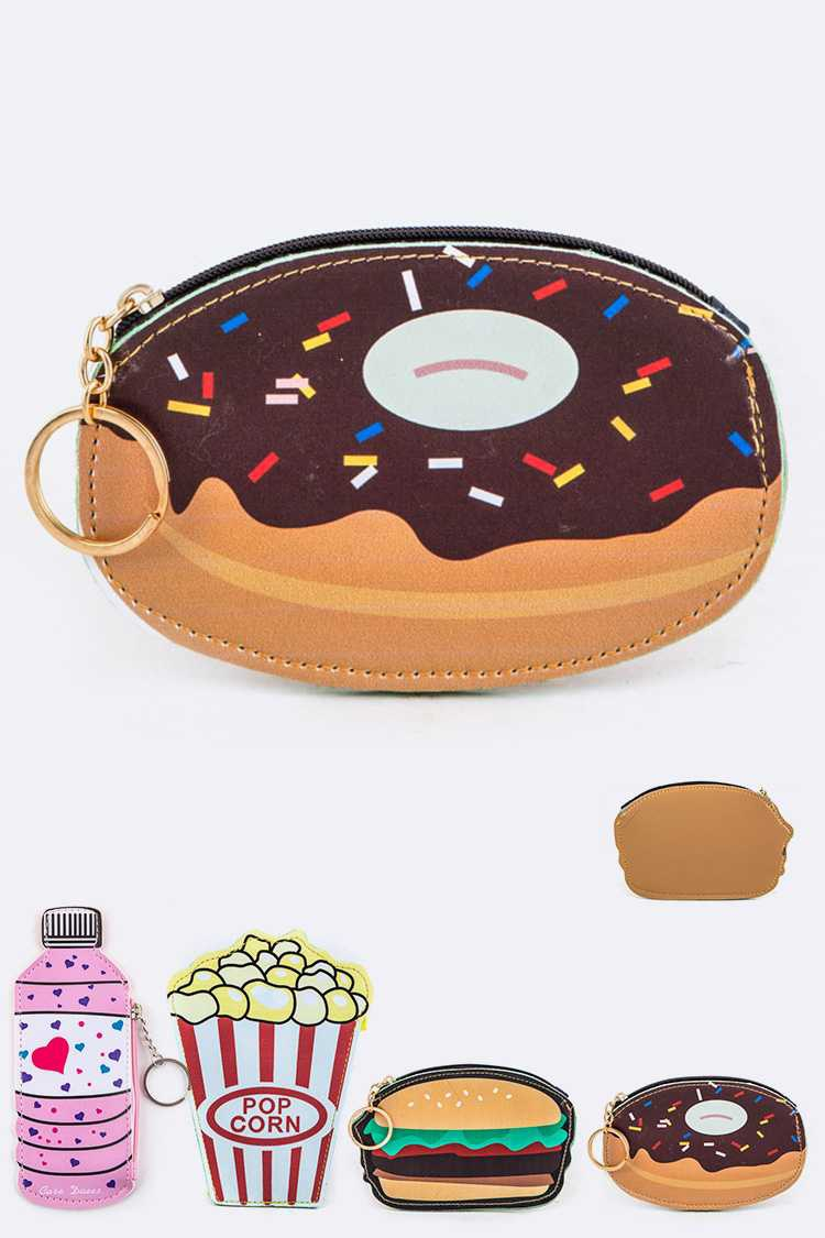Assorted Food Coin Purses Set - orangeshine.com