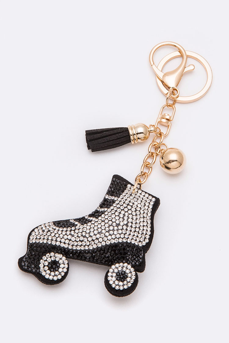 Roller Skate Crystal Key Chain - orangeshine.com