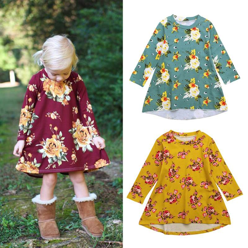 Girls Floral Tunic - orangeshine.com