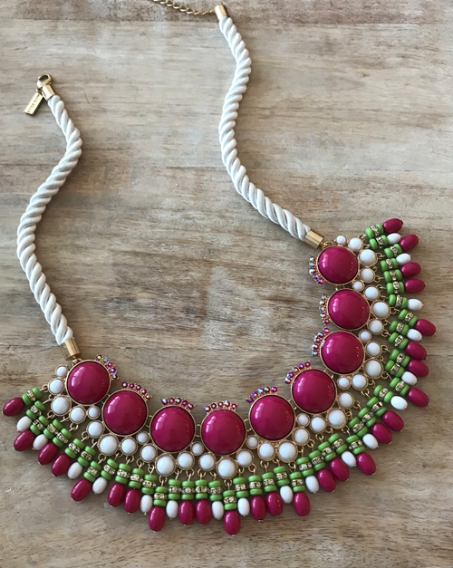 Morgan Necklace - Pink - orangeshine.com