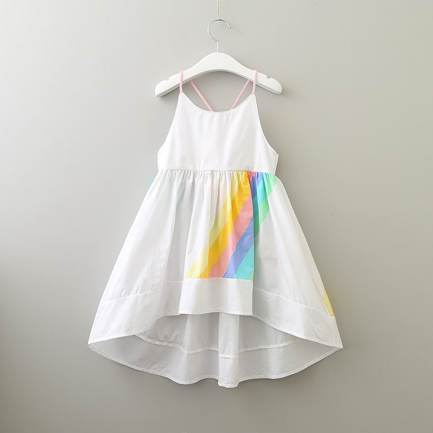 Girls Rainbow High low dress - orangeshine.com