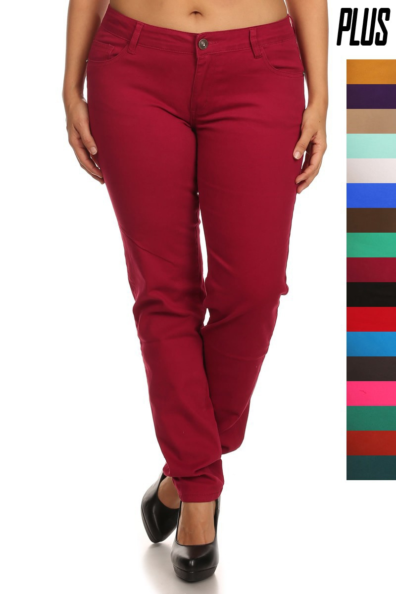 Plus Size High Waist Jean Pants - orangeshine.com