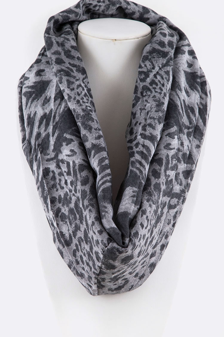 Animal Printed Viscose Scarf - orangeshine.com