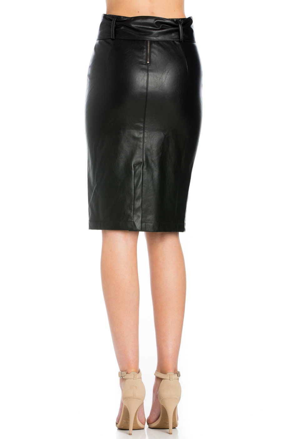PU PENCIL SKIRT - orangeshine.com