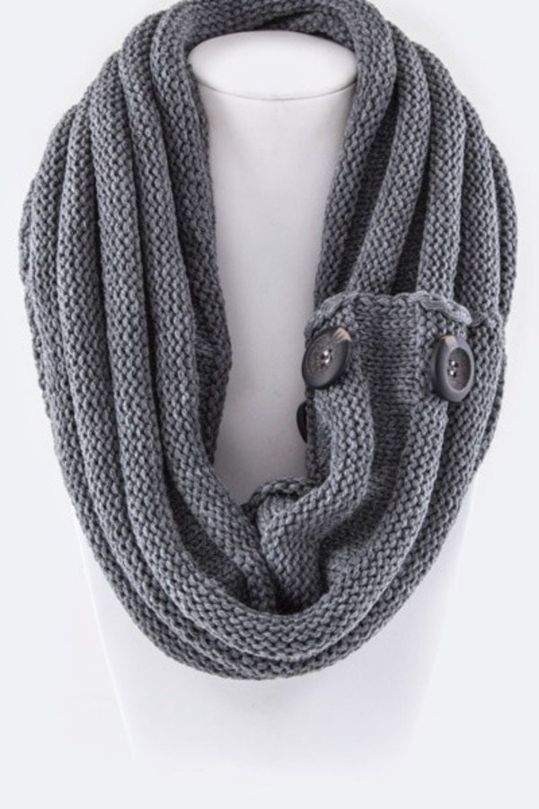 Large Buttons Fashion Neck Warmer - orangeshine.com