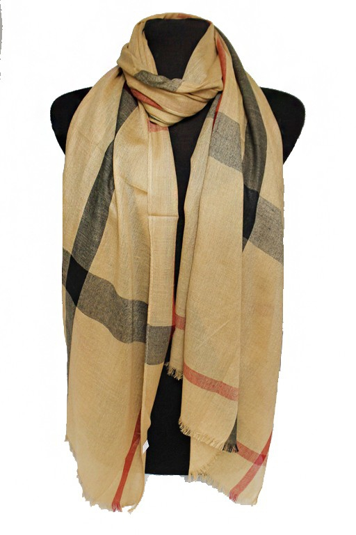 Plaid pattern Soft oblong Scarf - orangeshine.com