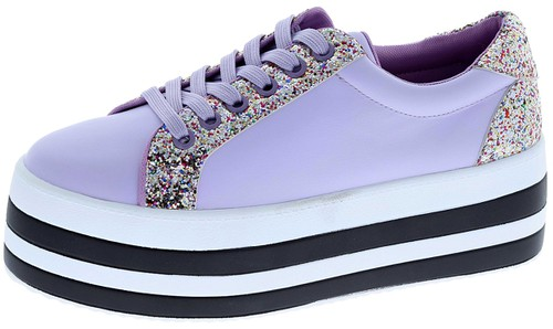FASHION SNEAKER WITH GLITTER - orangeshine.com