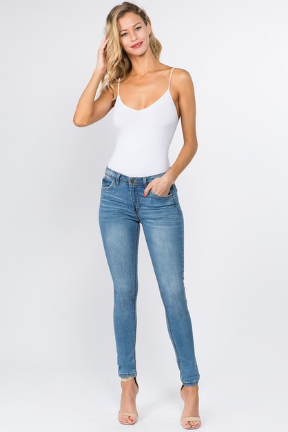 FLEXIBLE STRETCH BASIC SKINNY JEANS - orangeshine.com