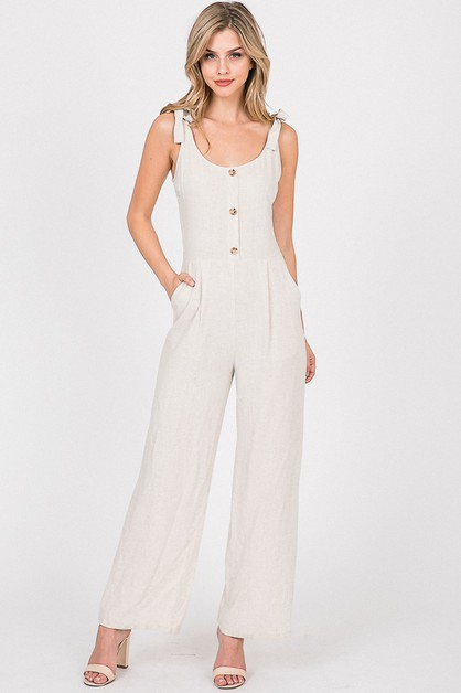Button Down Body Suit With Tie Strap - orangeshine.com