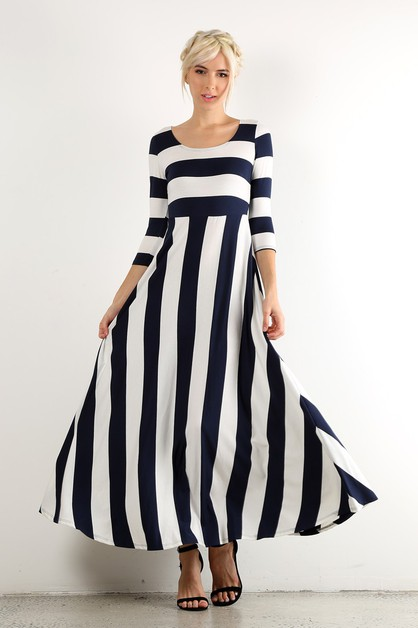 stripe relaxed maxi dress - orangeshine.com