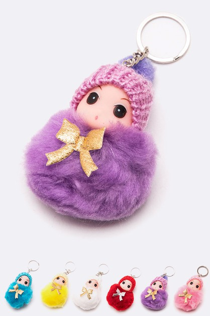 Little Infant PomPom Key Chain Set - orangeshine.com