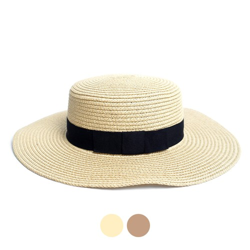 Spring-Summer Flat Top Wide Brim Hat - orangeshine.com