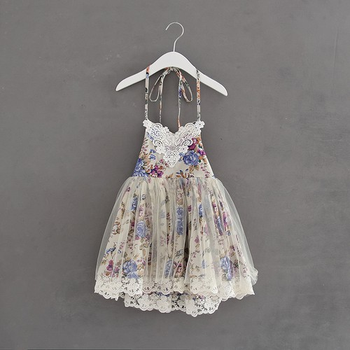 Girls Floral Lace dress - orangeshine.com
