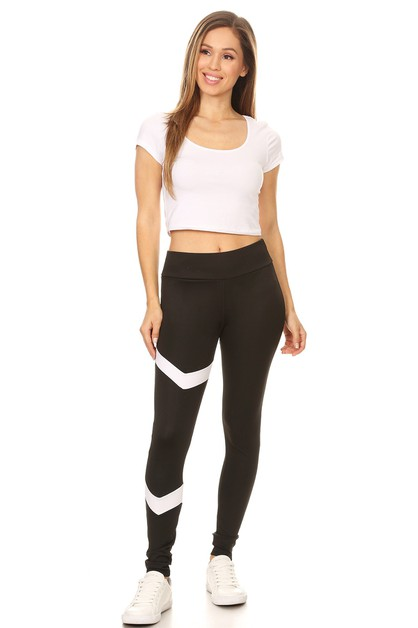 Colorblock yoga leggings - orangeshine.com