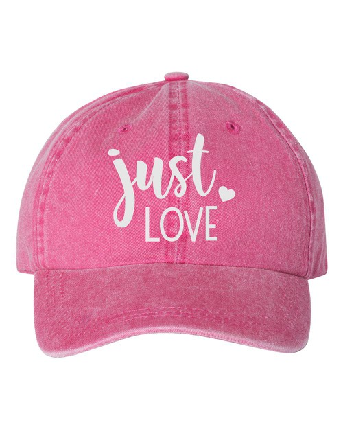 Just Love Embroidered Hat - orangeshine.com
