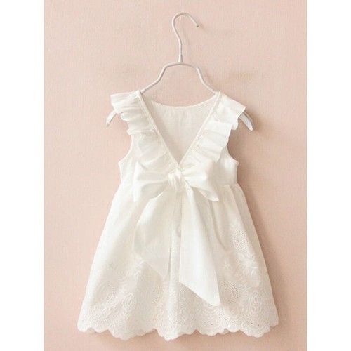 Ruffled Cotton Dress for Girls - orangeshine.com