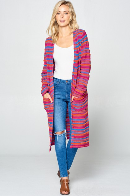 MULTI SWEATER CARDIGAN - orangeshine.com